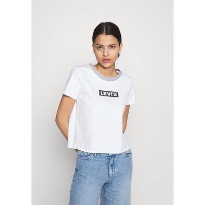 リーバイス Tシャツ レディース トップス GRAPHIC SURF TEE - Print T-shirt - white