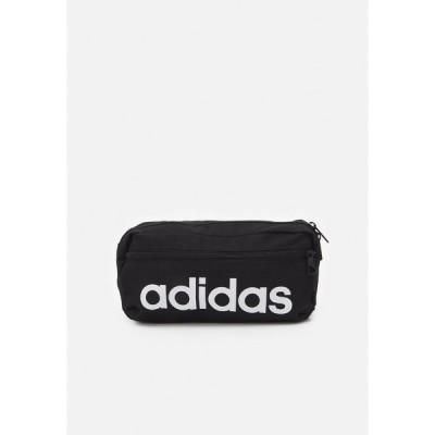 アディダス ボディバッグ・ウエストポーチ メンズ バッグ LINEAR BUM BAG UNISEX - Bum bag - black/white