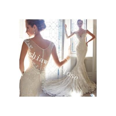 豪華なウエディングドレス花嫁 結婚式 披露宴 二次会 パーティードレス  ブライダルドレス二次会 ドレス花嫁  姫系トレス プリンセス