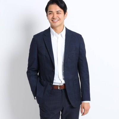 タケオ キクチ TAKEO KIKUCHI 【Sサイズ~】カラーグレンチェックジャケット/クールドッツ(R) (ネイビー)