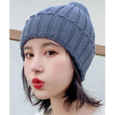 TeddyShop / レディース ケーブル編み折り返しビーニーニット帽 WOMEN 帽子 > ニットキャップ/ビーニー
