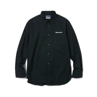 シャツ ブラウス L/S RIPSTOP Plain Collar Shirts