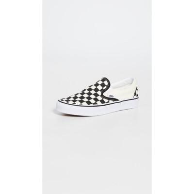 ヴァンズ Vans レディース スリッポン・フラット スニーカー シューズ・靴 UA Classic Slip On Sneakers Black/White Checkerboard