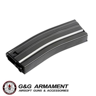 G&G G-08-153-2 125R Metal Mid-cap Magazine for GR16 (Black)