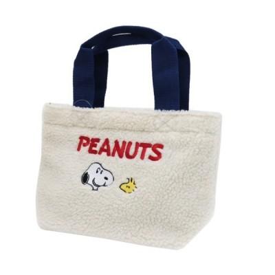 ランチバッグ もこもこ ミニ トートバッグ スヌーピー スヌーピー&ウッドストック ピーナッツ スモールプラネット お弁当かばん