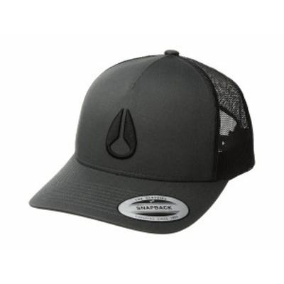 ニクソン メンズ 帽子 アクセサリー Iconed Trucker Hat Charcoal/Black