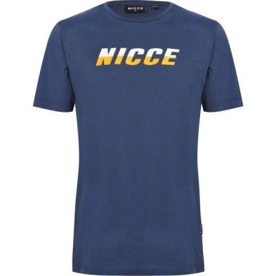 ニッチェ ロンドン Nicce メンズ Tシャツ トップス T Shirt Airforce Blue