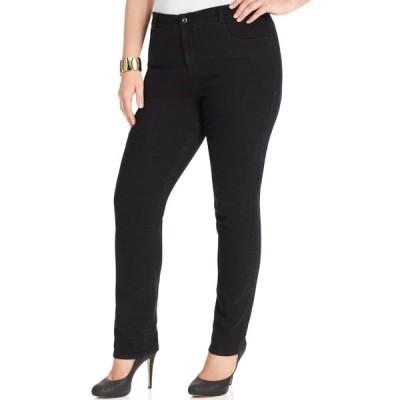 スタイル&コー Style & Co レディース ジーンズ・デニム ボトムス・パンツ Plus & Petite Plus Size Tummy-Control Slim-Leg Jeans Noir