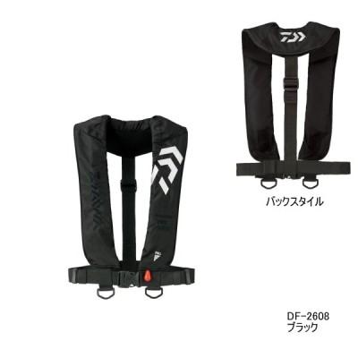 ダイワ インフレータブルライフジャケット(肩掛けタイプ自動、手動膨脹式) DF-2608 ブラック フリーサイズ