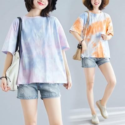 Tシャツ レディース 春 夏 UV対策 カットソー ゆったり 大きいサイズ トップス 着痩せ 体型カバー