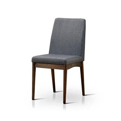 HOMES: Inside + Out Velasco Natural Tone Valesco Modern Side Chair (Set of 2)[並行輸入品]