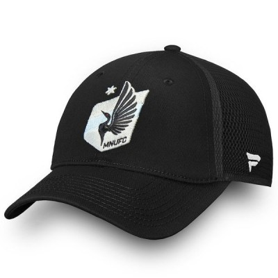 ファナティクス ブランデッド メンズ 帽子 アクセサリー Minnesota United FC Fanatics Branded Elevated Core Trucker Adjustable Snapback Hat