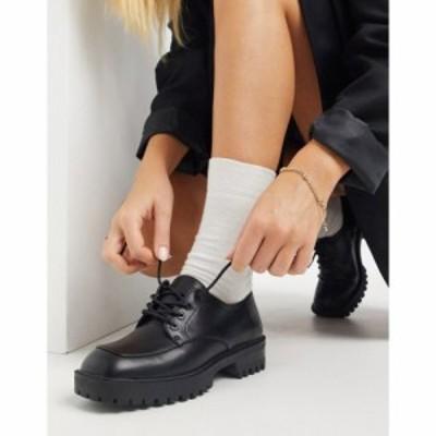 ロンドン レーベル London Rebel レディース スリッポン・フラット スクエアトゥ レースアップ シューズ・靴 Lace Up On Square Toe Flat