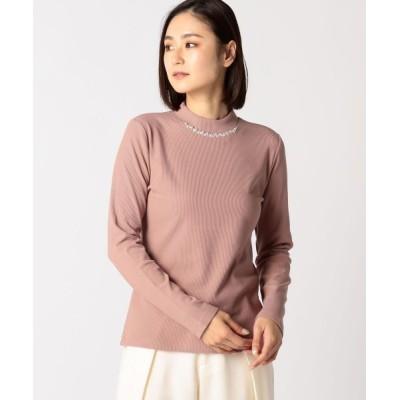 MEW'S REFINED CLOTHES / ビジュー起毛リブトップス WOMEN トップス > Tシャツ/カットソー