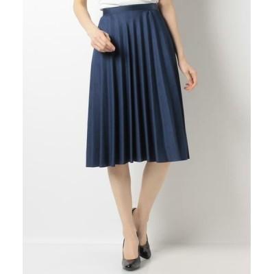 ANAYI/アナイ ブッチャーフレアプリーツスカート ブルー1 36