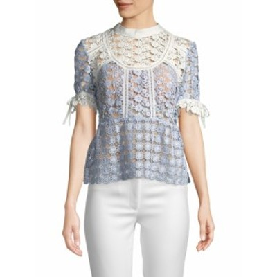 セルフ-ポートレイト レディース トップス シャツ Petal Crochet Top