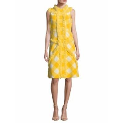 M ミッソーニ レディース ワンピース Cotton Printed Fringe Trim Flared Dress