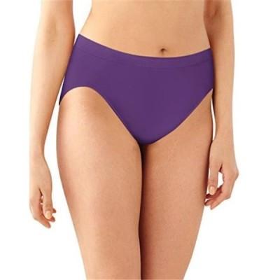 レディース 衣類 トップス Bali 090563874071 Womens Comfort Revolution Microfiber Hi-Cut Panty Size 7 - Purple Vista, Warm Steel & Blush