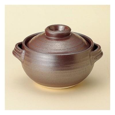 鉄砂ごはん鍋 1合炊 萬古焼 和食器 ごはん鍋 業務用 約17.5cm 和食 和風 白米 鯛めし 炊き込みご飯