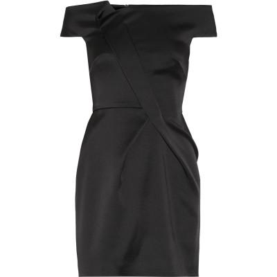 ローラン ムレ ROLAND MOURET ミニワンピース&ドレス ブラック 14 アセテート 70% / レーヨン 26% / ポリウレタン 4%