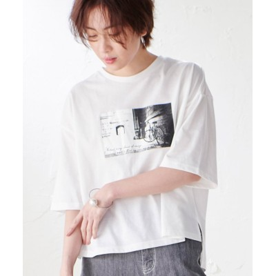 (Ranan/ラナン)フロントデザイン大人Tシャツ      /レディース オフホワイト系1