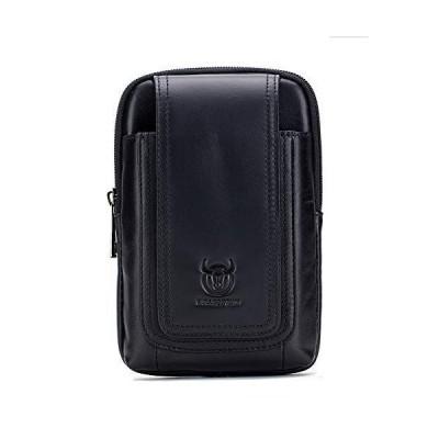 X-xyA Genuine Leather Belt Bag for Men, Fanny Bag Waist Pack Cigarette Phone Case Pouch Hip Bum Pack Purse,Black10【並行輸入品】