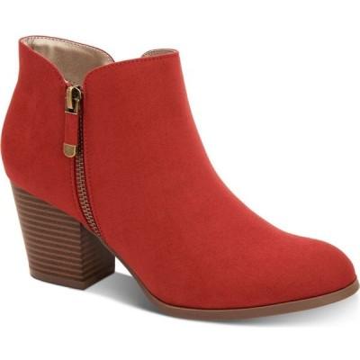 スタイル&コー Style & Co レディース ブーツ シューズ・靴 Masrinaa Ankle Booties's Garnet Red