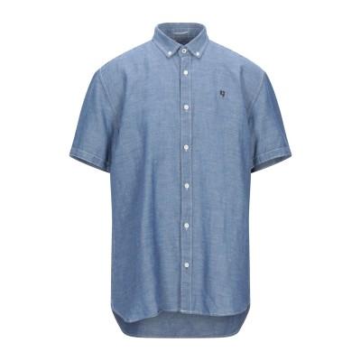 GARCIA シャツ ブルー S リネン 55% / コットン 45% シャツ