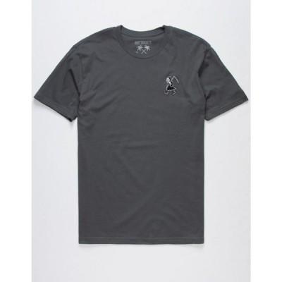 ライオットソサイエティ RIOT SOCIETY メンズ Tシャツ トップス Reaper Kicks Embroidered T-Shirt CHARC
