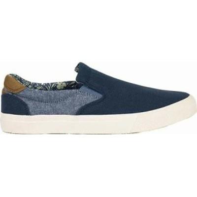 Crevo メンズシューズ Navy Canvas Baldwin Slip-on Sneaker