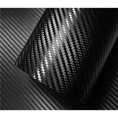 3D カーボンシート リアル カーボン調 カーボンステッカー 汎用 エア抜き溝有 152x035,(黒, 152x035)