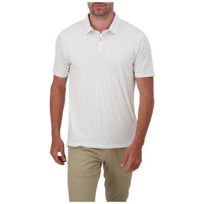 レポートコレクション メンズ シャツ トップス Arrow Print Knit Polo White