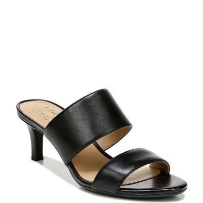 ナチュライザー レディース サンダル シューズ Tibby Banded Leather Dress Slide Sandals Black