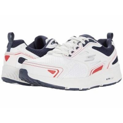 スケッチャーズ メンズ スニーカー シューズ Go Run Consistent - Vestige White/Navy/Red