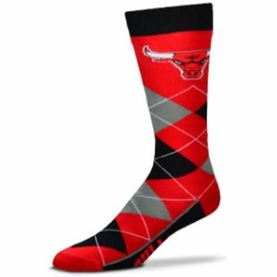 For Bare Feet フォー ベア フィート スポーツ用品  For Bare Feet Chicago Bulls Argyle Crew Socks