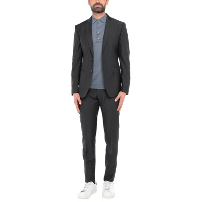 57 T スーツ ブラック 52 バージンウール 100% スーツ