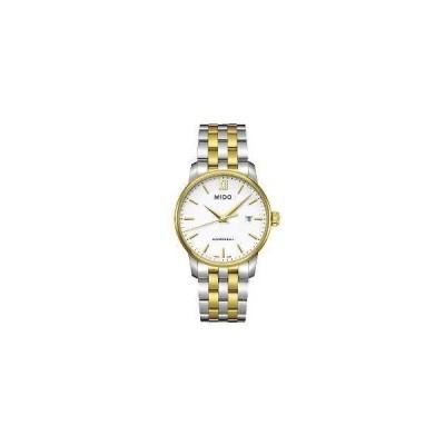 ミドー 腕時計 Mido Baroncelli ホワイト ダイヤル ツートン メンズ 腕時計 M0134102201100