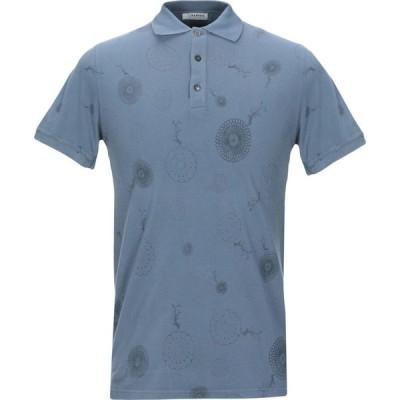 アルファス テューディオ ALPHA STUDIO メンズ ポロシャツ トップス polo shirt Slate blue