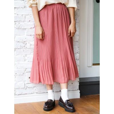 ふんわりプリーツスカート
