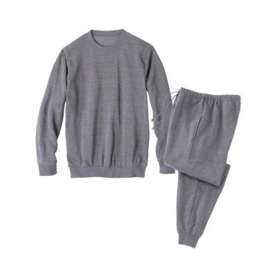 裏起毛クルーネックルームウェア上下セット メンズパジャマ, Men's Pajamas
