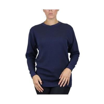 ギャラクシーバイハルビック レディース シャツ トップス Women's Loose Fit Waffle Knit Thermal Shirt