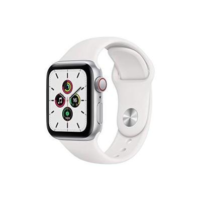 Apple Watch SE GPS+Cellularモデル 40mm シルバーアルミニウムケースとホワイトスポーツバンド レギュラー MYEF2J/A