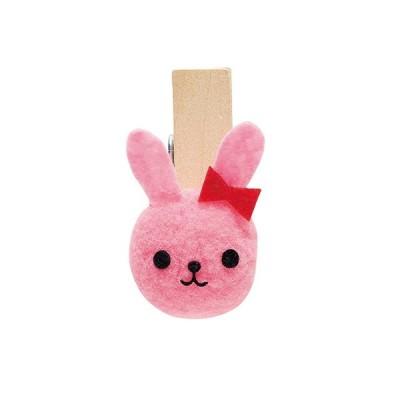 クリップぼんてんアニマル/20 約5X約3CM 3 ウサギ  デコレーション デコレーションパーツ その他 取寄せ品