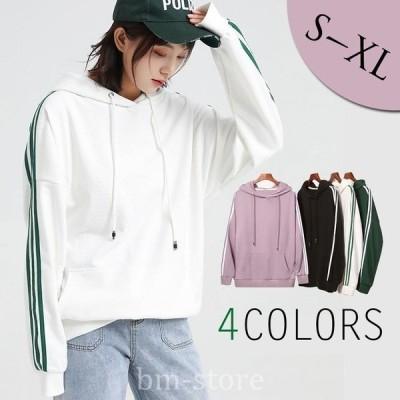 パーカーS~2XL大きいサイズ長袖プルオーバー春ゆったり体型カバー大きいサイズオーバーサイズ