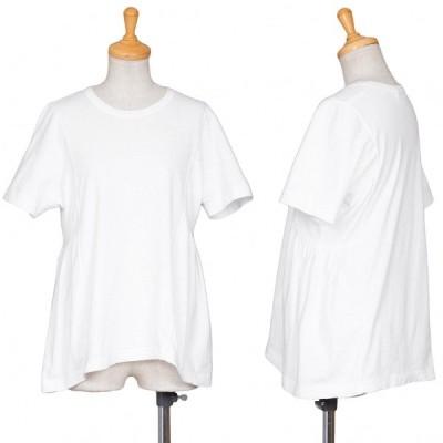 コムコム コムデギャルソンCOMME des GARCONS 切り替えTシャツ 白S 【レディース】