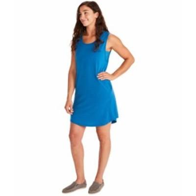 マーモット レディース ワンピース トップス Estel Dress Short Sleeve Classic Blue