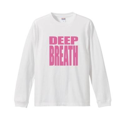 """スクエア ロゴ 長袖Tシャツ """"DEEP BREATH"""""""