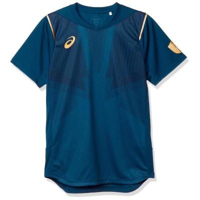 [アシックス] バレーボールウエア EL 半袖シャツ 2051A112 メンズ マコブルー 日本 S (日本サイズS相当)