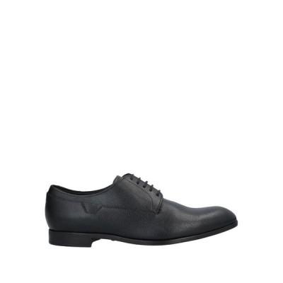 EMPORIO ARMANI メンズ レースアップシューズ 靴 ブラック