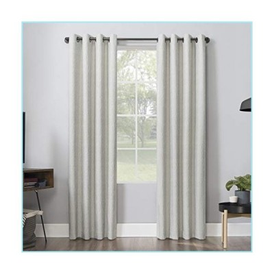 "新品Sun Zero 56605 Ruben Dimensional Thermal Extreme 100% Blackout Grommet Curtain Panel, 52"" x 84"", Cream White"